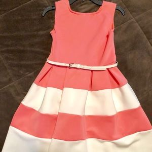 Knit Works Belted Sleeveless Skater Dress